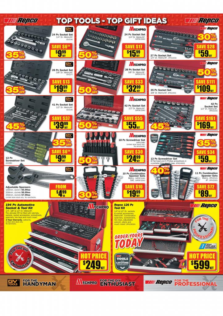 Repco Christmas Sale - Start Thu, 27 Nov 2014 - End Thu, 11 Dec 2014