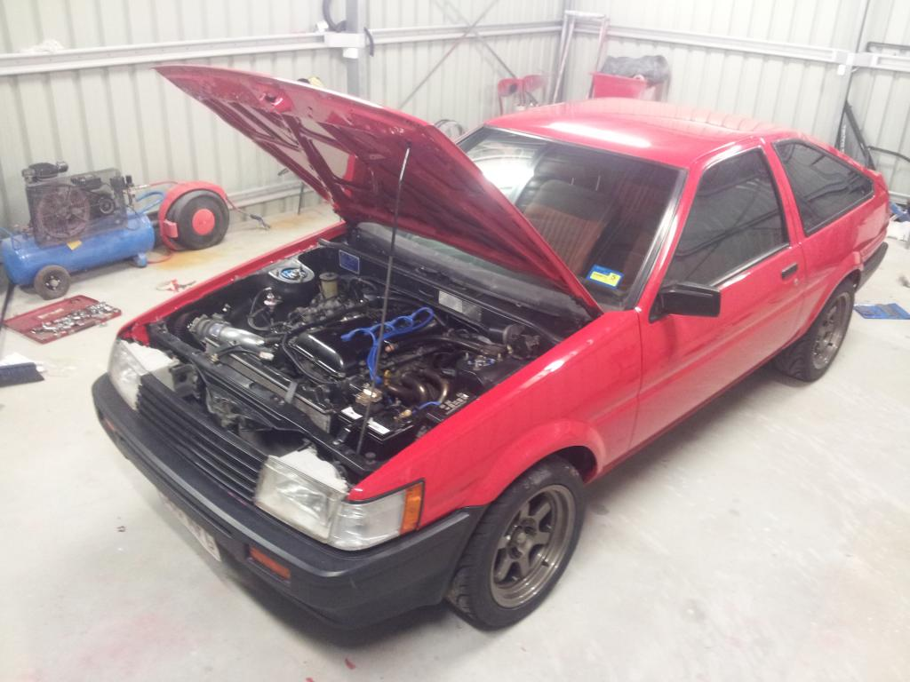 jasons first ae86 build with sr20