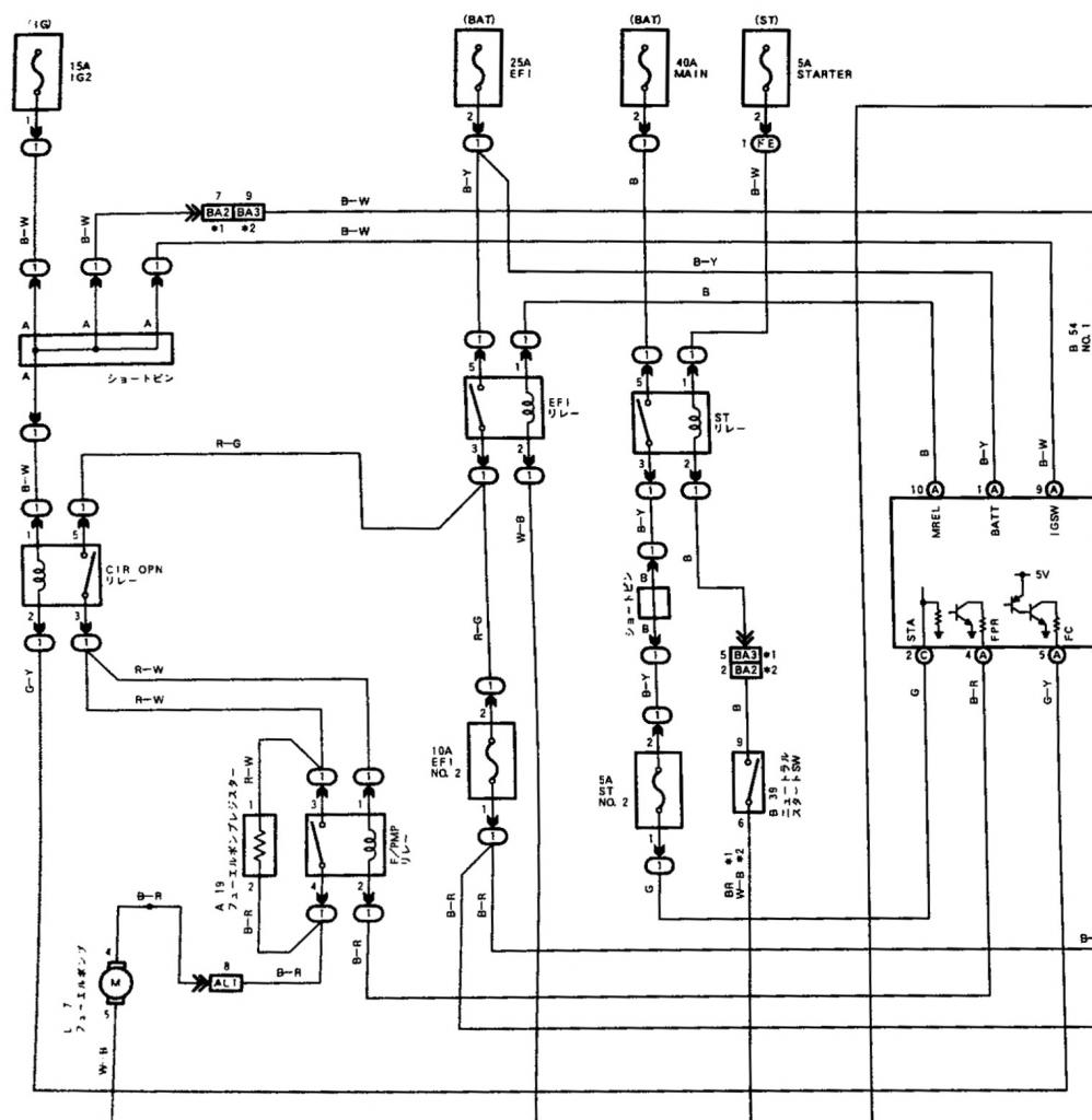 Toyota Cressida Mx83 Jzs171 Vvti Jzx110 Page 4 Ae86 Headlight Wiring Diagram As In The There Is 2 Relays First Relay Traditional Switch To Ground At Ecu When Fuel Pump Run And Second